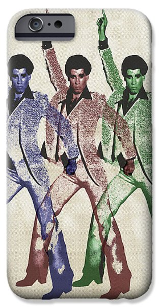 Young Mixed Media iPhone Cases - Stayin Alive Pop 5 iPhone Case by Tony Rubino