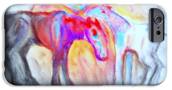 Component Paintings iPhone Cases - Staying Alive iPhone Case by Hilde Widerberg