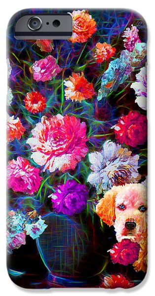 Puppy Iphone Case iPhone Cases - Staying Out of Trouble iPhone Case by EricaMaxine  Price