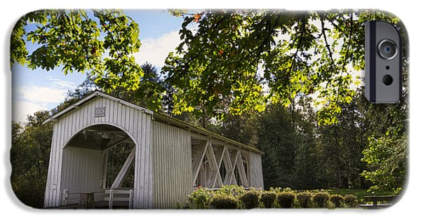 October iPhone Cases - Stayton-Jordan Covered Bridge iPhone Case by Mark Kiver