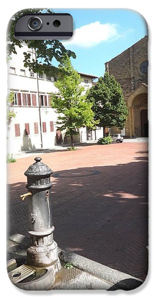 Piazzo iPhone Cases - Piazza in Arezzo iPhone Case by Irina Stroup