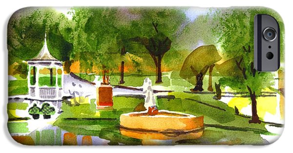 Drama Mixed Media iPhone Cases - Ste Marie du Lac in Watercolor IIb iPhone Case by Kip DeVore
