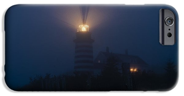 West Quoddy Head Lighthouse iPhone Cases - Steadfast Light iPhone Case by Marty Saccone
