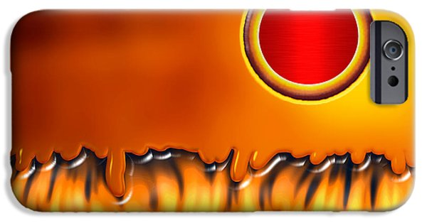 Art166.com iPhone Cases - Steady Burn iPhone Case by Wendy J St Christopher