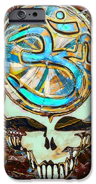 Buddhism Glass Art iPhone Cases - Steal Your Search For The Sound THREE iPhone Case by Kevin J Cooper Artwork