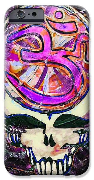 Buddhism Glass Art iPhone Cases - Steal Your Search For The Sound TWO iPhone Case by Kevin J Cooper Artwork