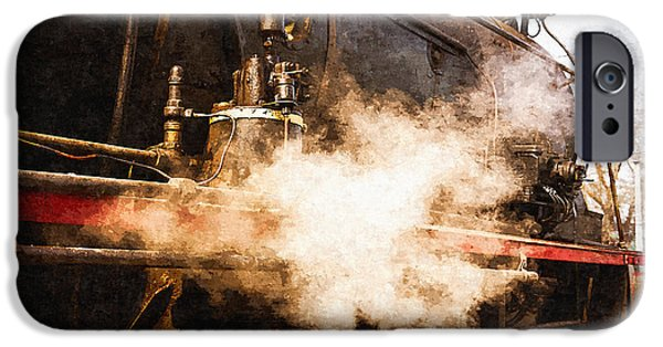 Oil Pump Gears iPhone Cases - Steam And Iron - Ready For Departure iPhone Case by Alexander Senin