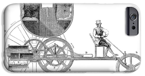 1801 iPhone Cases - Steam Carriage, 1801 iPhone Case by Granger