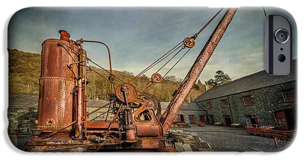 Abandoned Buildings iPhone Cases - Steam Crane iPhone Case by Adrian Evans
