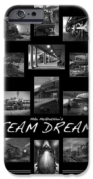 Evening Digital Art iPhone Cases - Steam Dreams iPhone Case by Mike McGlothlen