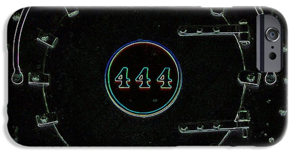 444 iPhone Cases - Steam Engine 444 iPhone Case by Kim Pate