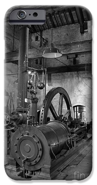 Greyscale iPhone Cases - Steam engine at Lockes Distillery iPhone Case by RicardMN Photography