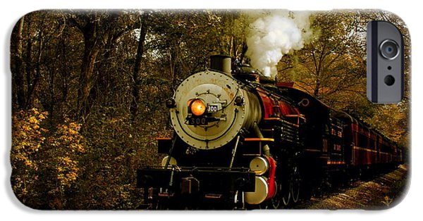 Fall Scenes iPhone Cases - Steam Engine No. 300 iPhone Case by Robert Frederick