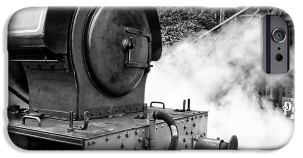Repulse iPhone Cases - Steam Engine Repulse Lakeside and Haverthwait Railway iPhone Case by Mike Marsden