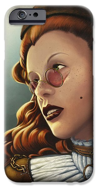 Character Portraits Digital Art iPhone Cases - Steam Heritage iPhone Case by Dorianne Dutrieux