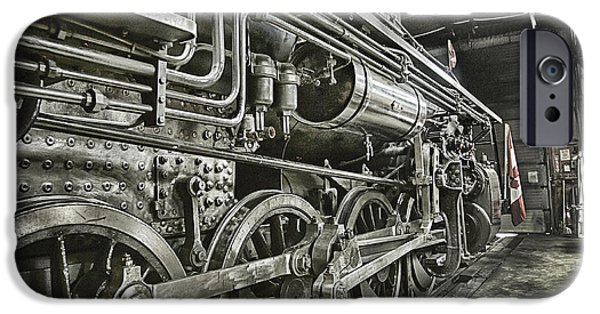 Work Tool iPhone Cases - Steam Locomotive 2141 iPhone Case by Theresa Tahara