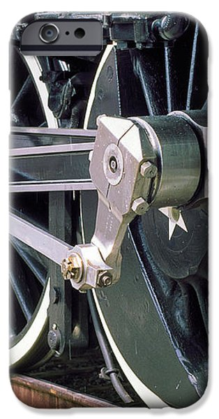 Steam Locomotive Coupling Rod and Driver Wheels iPhone Case by Wernher Krutein