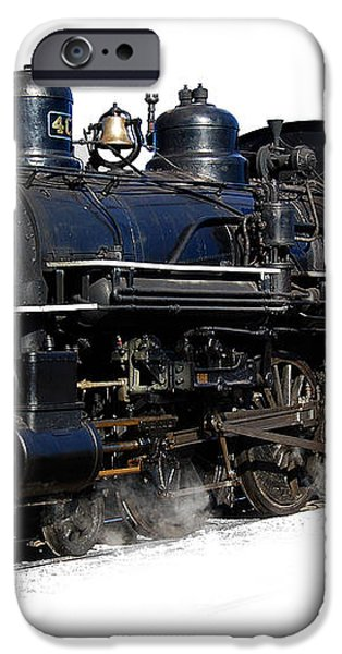 steam locomotive iPhone Case by Gunter Nezhoda