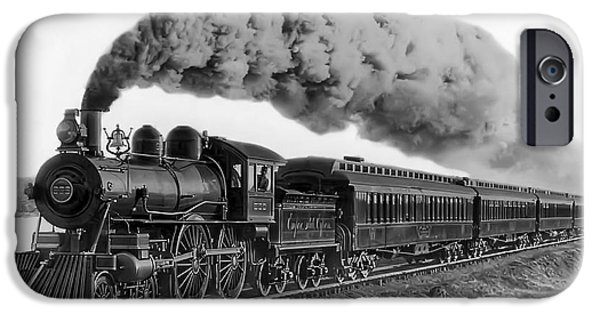 Steam Locomotive iPhone Cases - Steam Locomotive No. 999 - C. 1893 iPhone Case by Daniel Hagerman