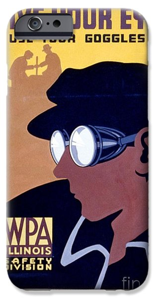 Steam Punk iPhone Cases - Steam Punk WPA Vintage Safety Poster iPhone Case by Wpa
