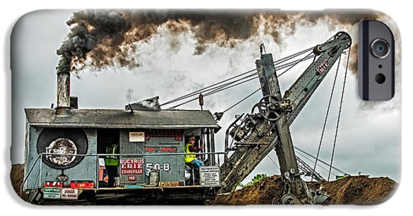 Power Industry iPhone Cases - Steam Shovel iPhone Case by Paul Freidlund