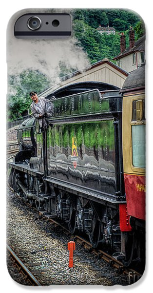 Steam Locomotive iPhone Cases - Steam Train 3802 iPhone Case by Adrian Evans
