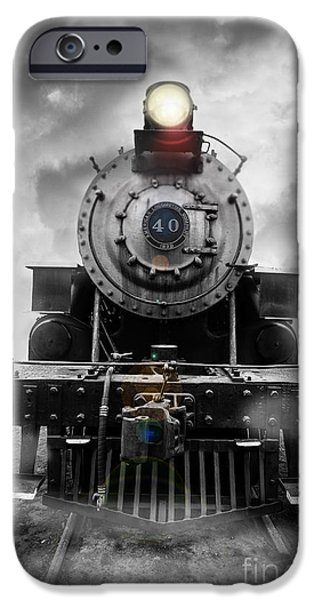 Concept Photographs iPhone Cases - Steam Train Dream iPhone Case by Edward Fielding