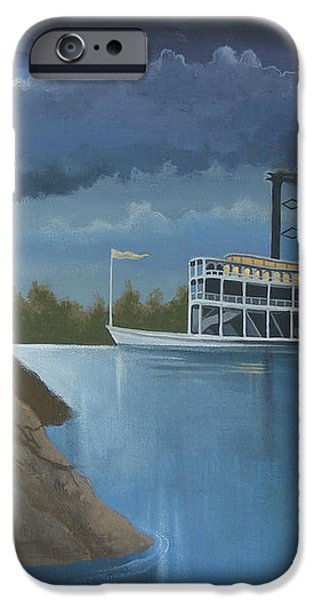 Steamboat on the Mississippi iPhone Case by Stuart Swartz