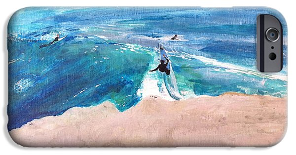 Steamer Lane iPhone Cases - Steamer Lane iPhone Case by Peter Forbes