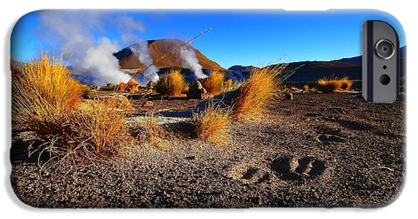 Chile iPhone Cases - Steaming Desert 2 iPhone Case by FireFlux Studios