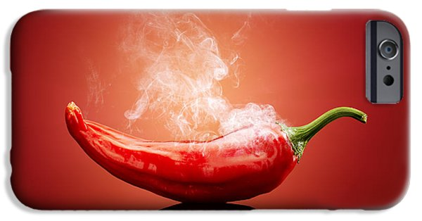 Backgrounds iPhone Cases - Steaming hot Chilli iPhone Case by Johan Swanepoel