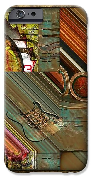 Steampunk Abstract iPhone Case by Liane Wright