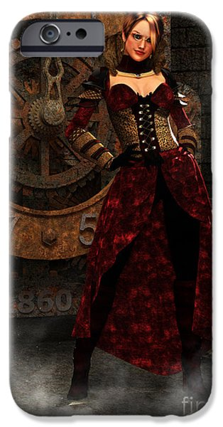 Akimbo iPhone Cases - Steampunk Adventurer iPhone Case by Elle Arden Walby