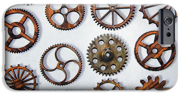 Cog Wheels iPhone Cases - Steampunk - All Those Gears iPhone Case by Paul Ward
