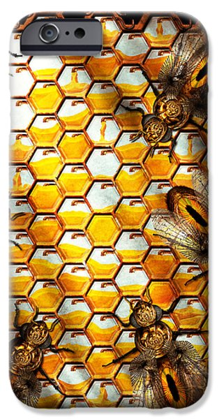Steampunk - Apiary - The hive iPhone Case by Mike Savad