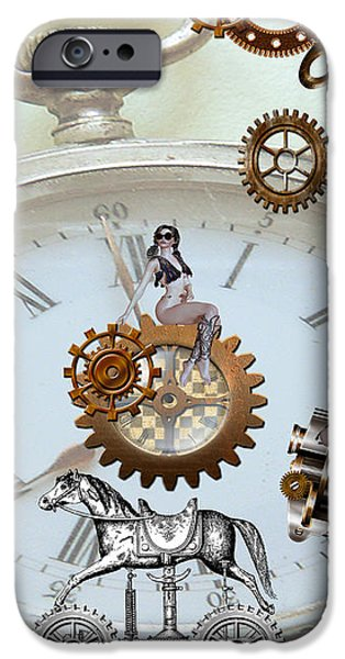 Steampunk iPhone Case by Cheryl Young