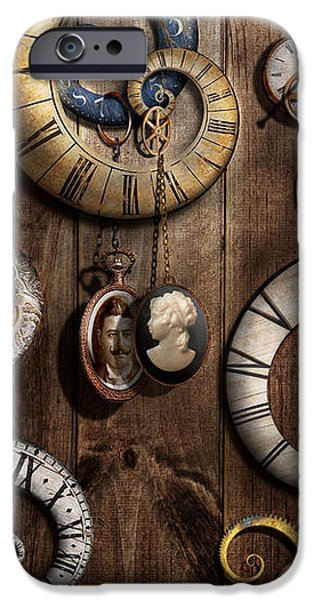 Steampunk - Clock - Time machine iPhone Case by Mike Savad