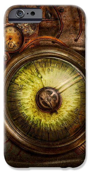 Steampunk - Creepy - Eye on technology  iPhone Case by Mike Savad