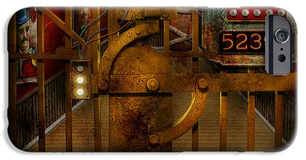 Boarded Up iPhone Cases - Steampunk - Dystopia - The Vault iPhone Case by Mike Savad