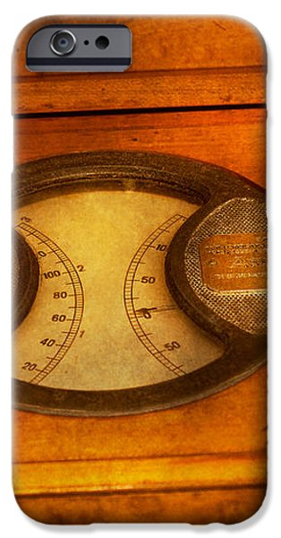 Steampunk - Electrician - The portable volt meter iPhone Case by Mike Savad