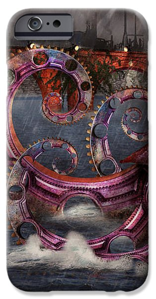 Steampunk - Enteroctopus magnificus roboticus iPhone Case by Mike Savad