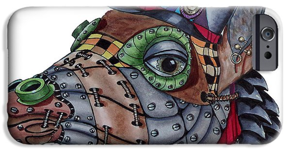 Nature Abstract iPhone Cases - Steampunk G iPhone Case by Linda McMillen