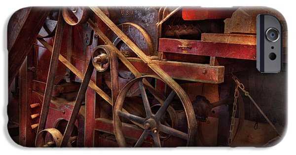Pulley iPhone Cases - Steampunk - Gear - Belts and Wheels  iPhone Case by Mike Savad