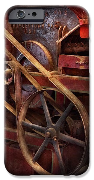 Steampunk - Gear - Belts and Wheels  iPhone Case by Mike Savad