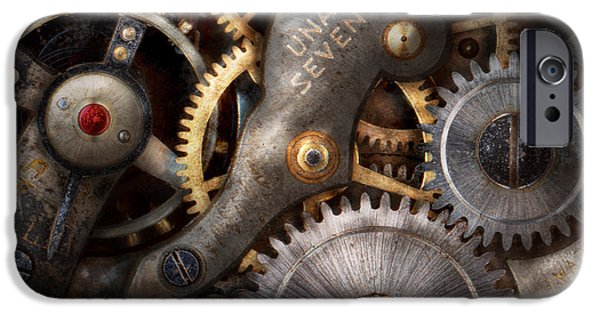 Clockwork iPhone Cases - Steampunk - Gears - Horology iPhone Case by Mike Savad