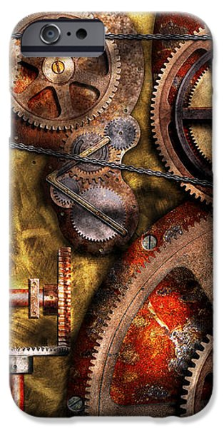 Steampunk - Gears - Inner Workings iPhone Case by Mike Savad