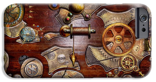 Reverse Art iPhone Cases - Steampunk - Gears - Reverse engineering iPhone Case by Mike Savad