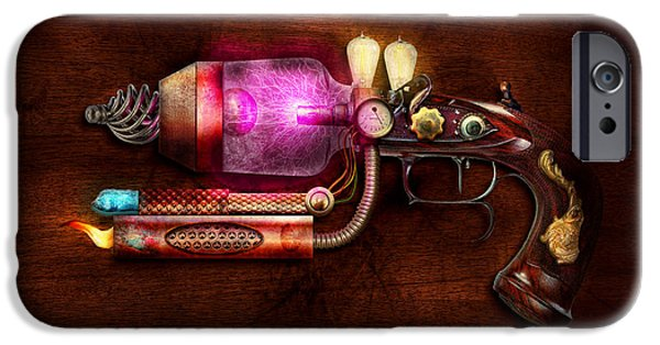 Suburban Digital Art iPhone Cases - Steampunk - Gun -The neuralizer iPhone Case by Mike Savad