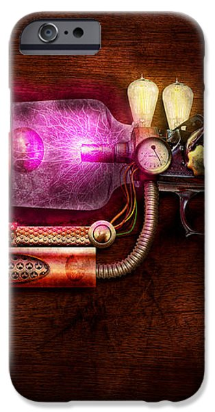 Steampunk - Gun -The neuralizer iPhone Case by Mike Savad