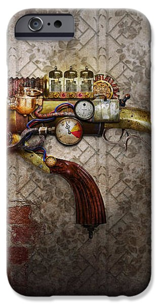 Steampunk - Gun - The sidearm iPhone Case by Mike Savad
